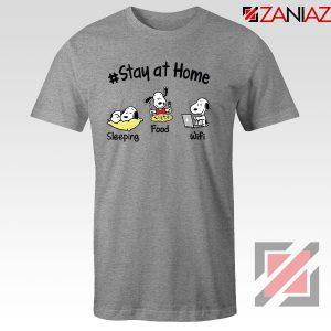 Snoopy Stay Home Sport Grey Tshirt