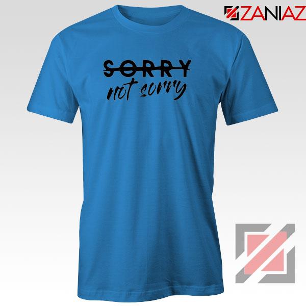 Sorry Not Sorry Lyrics Blue Tshirt