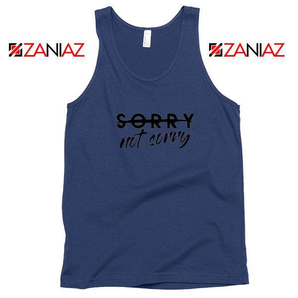 Sorry Not Sorry Lyrics Navy Blue Tank Top