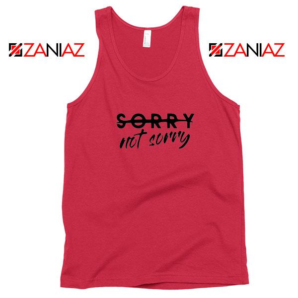 Sorry Not Sorry Lyrics Red Tank Top