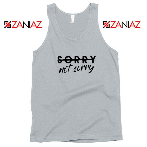 Sorry Not Sorry Lyrics Sport Grey Tank Top
