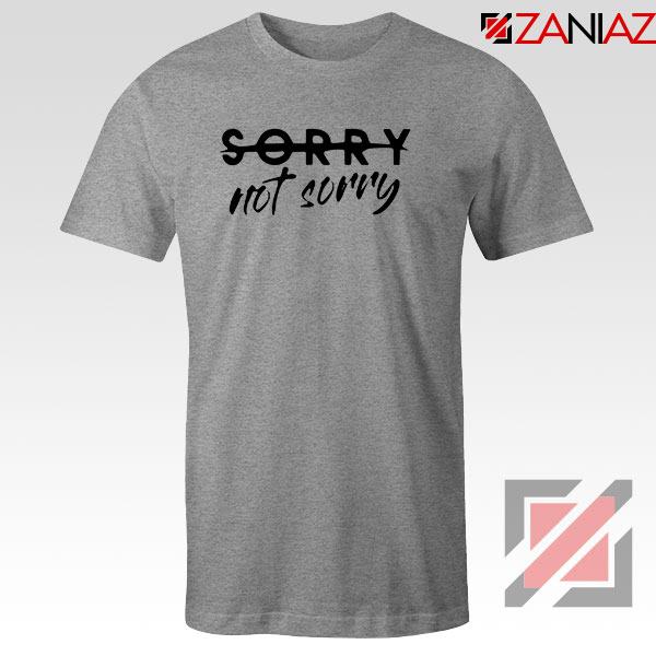 Sorry Not Sorry Lyrics Sport Grey Tshirt