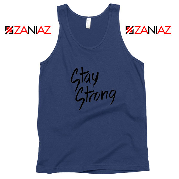 Stay Strong Demi Lovato Navy Blue Tank Top