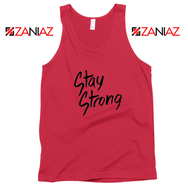 Stay Strong Demi Lovato Red Tank Top