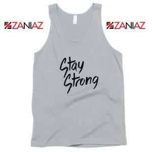 Stay Strong Demi Lovato Sport Grey Tank Top