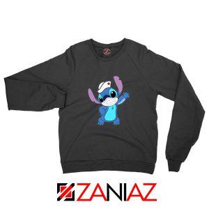 Stitch Nurse Black Sweatshirt