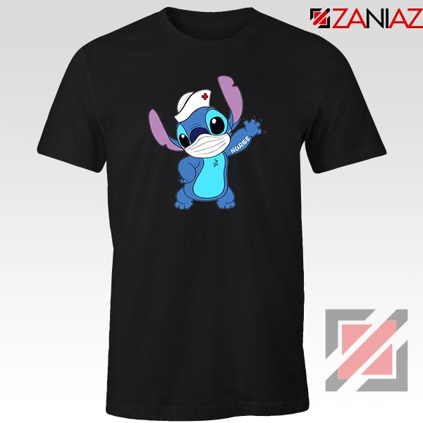 Stitch Nurse Black Tshirt