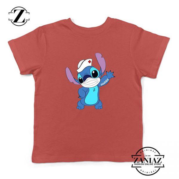 Stitch Nurse Red Kids Tshirt