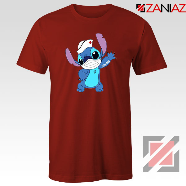 Stitch Nurse Red Tshirt