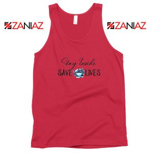 Stitch Social Distancing Red Tank Top