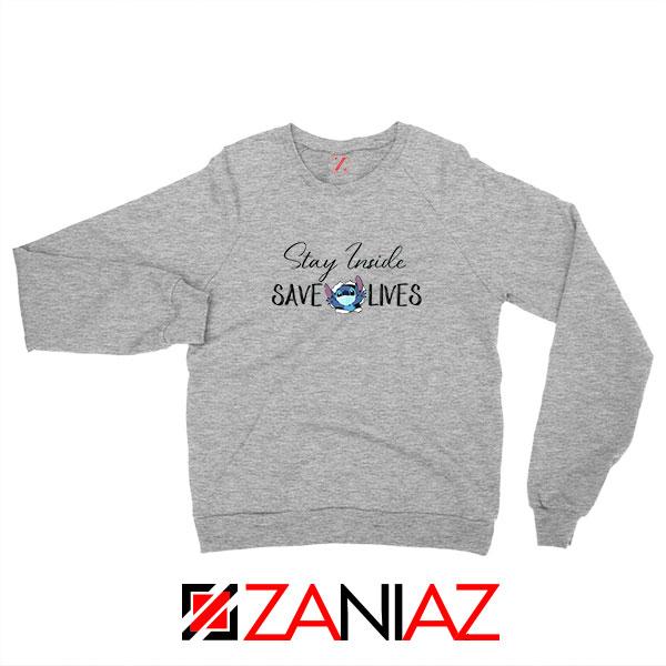 Stitch Social Distancing Sport Grey Sweatshirt