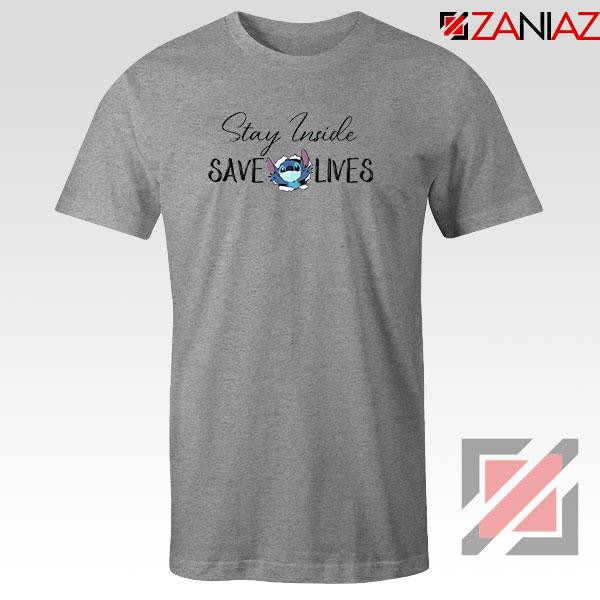 Stitch Social Distancing Sport Grey Tshirt