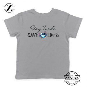 Stitch Social Distancing Sport Grey Youth Tshirt