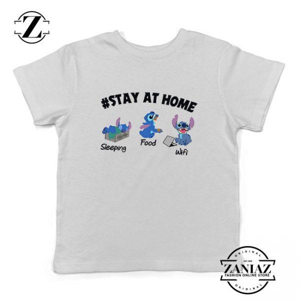 Stitch Stay At Home Kids Tshirt