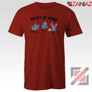 Stitch Stay At Home Red Tshirt