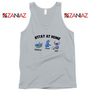 Stitch Stay At Home Sport Grey Tank Top