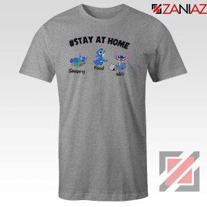 Stitch Stay At Home Sport Grey Tshirt