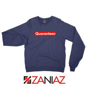 Supreme Quarantine Navy Blue Sweatshirt