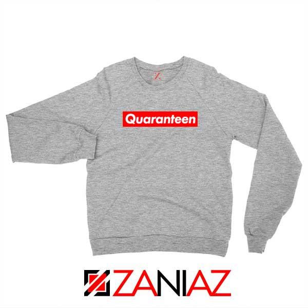 Supreme Quarantine Sport Grey Sweatshirt