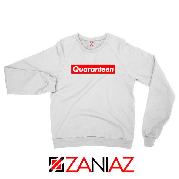 Supreme Quarantine White Sweatshirt