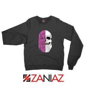 Thanos Face Half Skull Black Sweatshirt