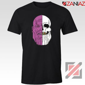 Thanos Face Half Skull Black Tshirt