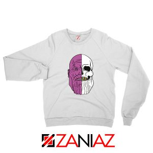 Thanos Face Half Skull Sweatshirt
