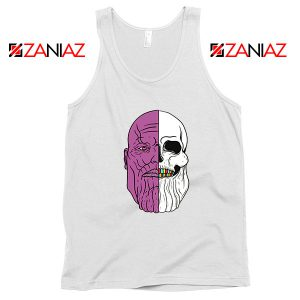 Thanos Face Half Skull Tank Top