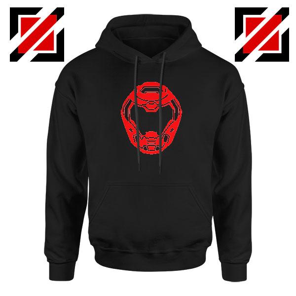 The Doom Marine Helmet Black Hoodie