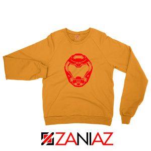 The Doom Marine Helmet Orange Sweatshirt