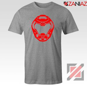 The Doom Marine Helmet Sport Grey Tshirt