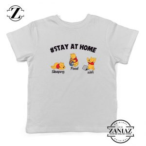 The Pooh Stay Home Kids Tshirt