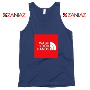 Wash Your Hands Covid 19 Navy Blue Tank Top