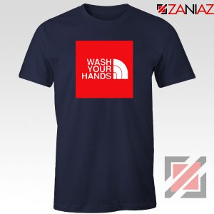 Wash Your Hands Covid 19 Navy Blue Tshirt