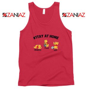 Winnie The Pooh Stay Home Red Tank Top