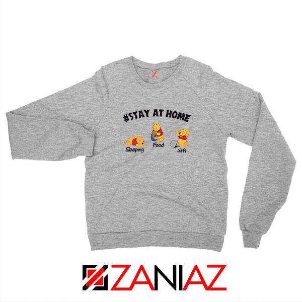 Winnie The Pooh Stay Home Sport Grey Sweatshirt