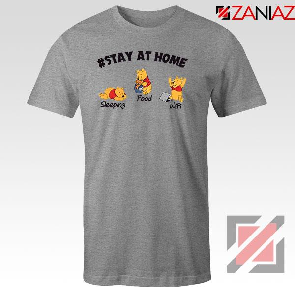 Winnie The Pooh Stay Home Sport Grey Tshirt