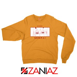 Your Senpai Zero Two Orange Sweatshirt