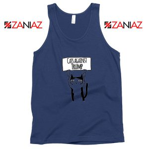 Cats Against Trump Navy Blue Tank Top