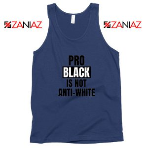 Anti Racism Navy Blue Tank Top
