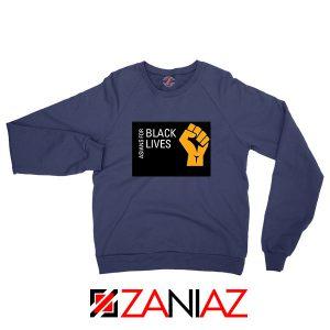 Asians For Black Lives NAvy Blue Sweatshirt