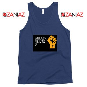 Asians For Black Lives Navy Blue Tank Top