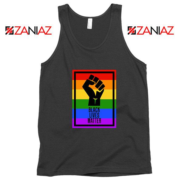 BLM Fist Rainbow Black Tank Top