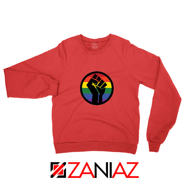 BLM LGBTQ Rainbow Red Sweatshirt