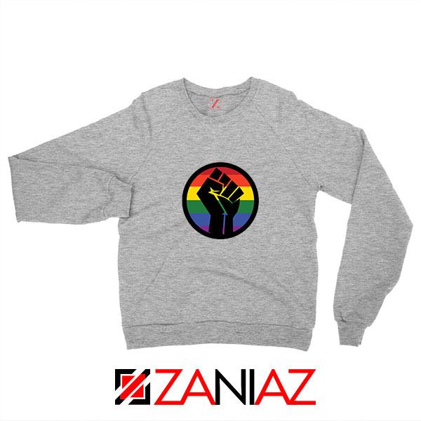 BLM LGBTQ Rainbow Sport Grey Sweatshirt