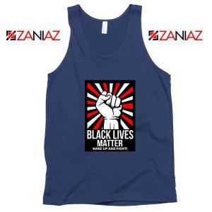 Black Lives Matter Movement Navy Blue Tank Top