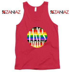 Black Lives Matter Rainbow Red Tank Top