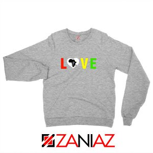 Black Lives Matters African Sport Grey Sweatshirt