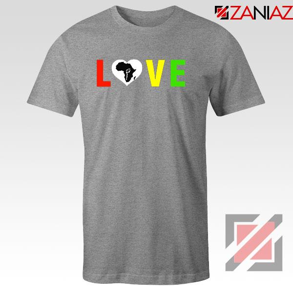 Black Lives Matters African Sport Grey Tshirt