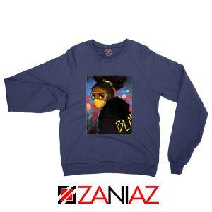 Black Power Navy Blue Sweatshirt